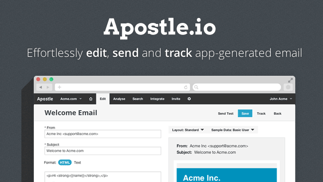 Sponsor Apostleio Succeed At Transactional Email News And - Transactional email templates