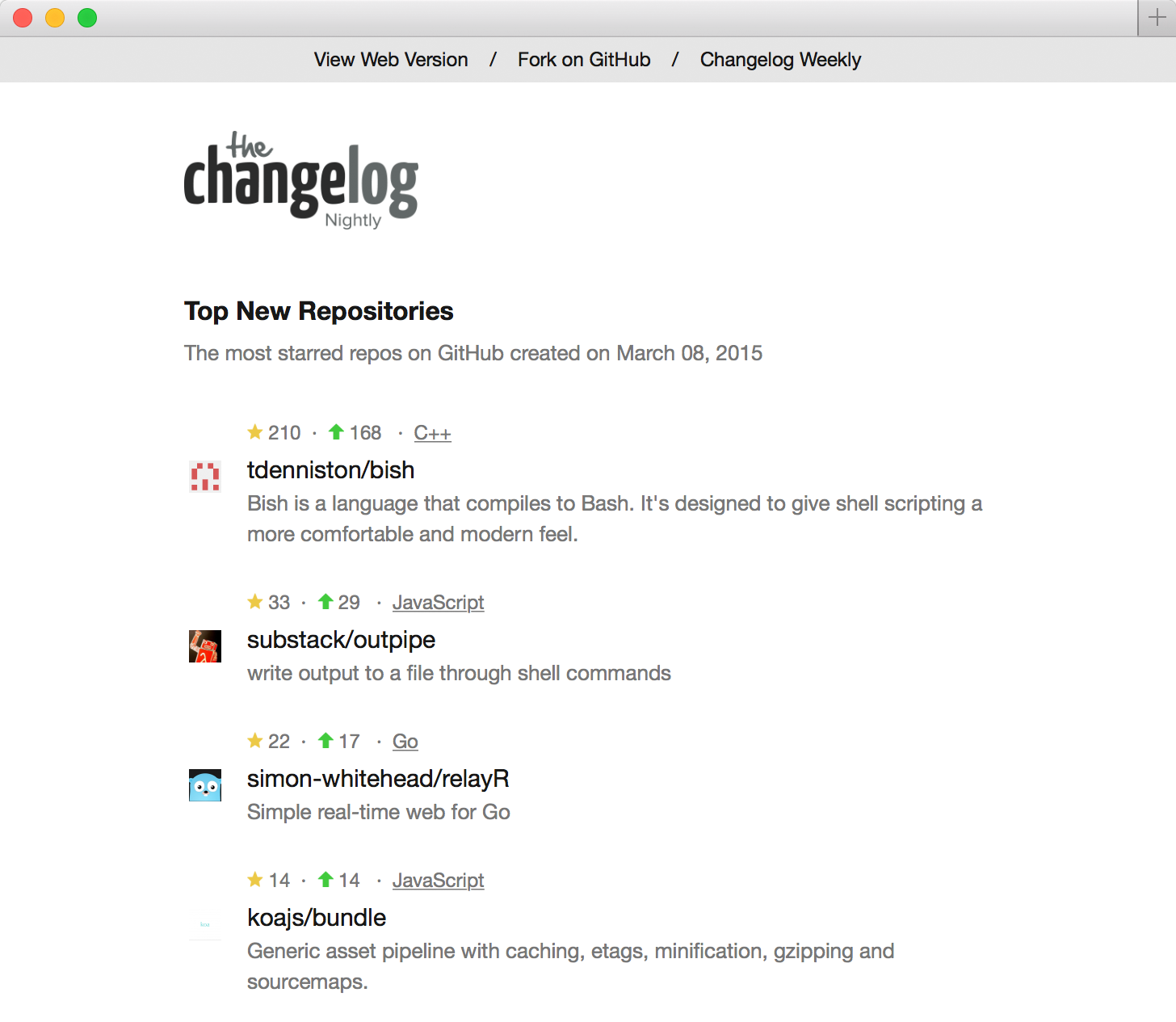 Changelog Nightly - 2015-03-08 - Day